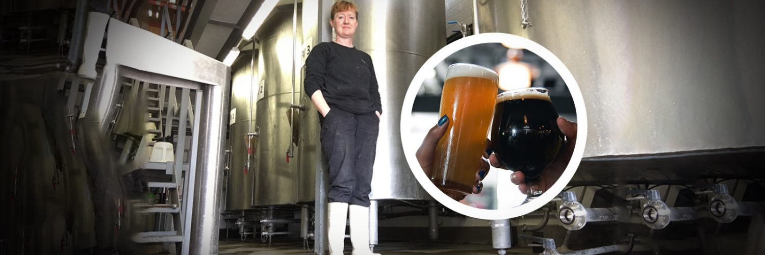 Sue Fisher in the brewery