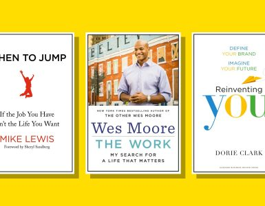 book covers of suggested reading for career change