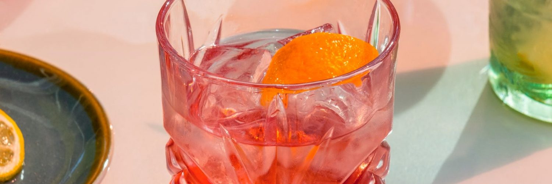aperitif in a crystal glass